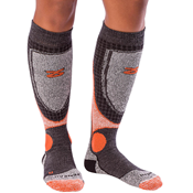 Zensah Far Infrared Ski Socks orange